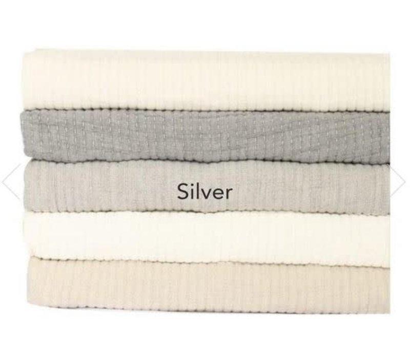 Brayden Queen Coverlet Silver