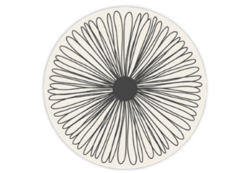 Round Floral Placemat