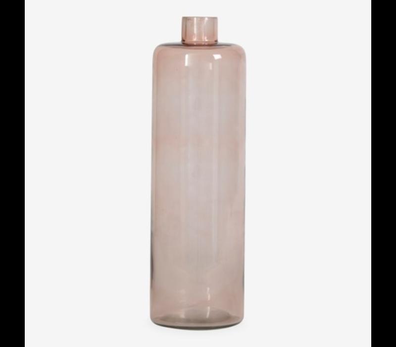 """Glass Vase Amber 13.5"""""""