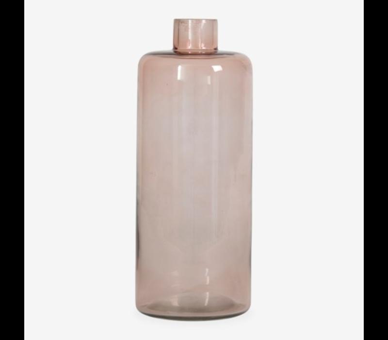 """Glass Vase Amber 10"""""""