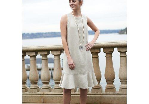 Ellie Dress Flax  X-Small