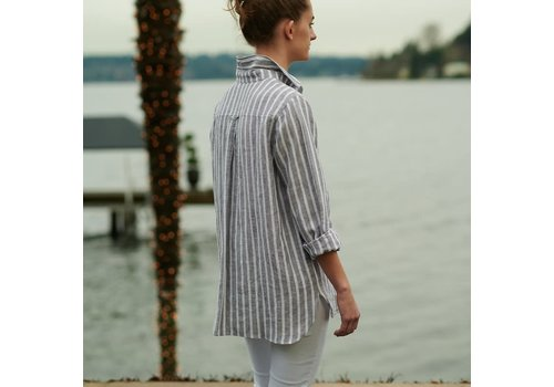 Cameron Shirt Gray Stripe Medium