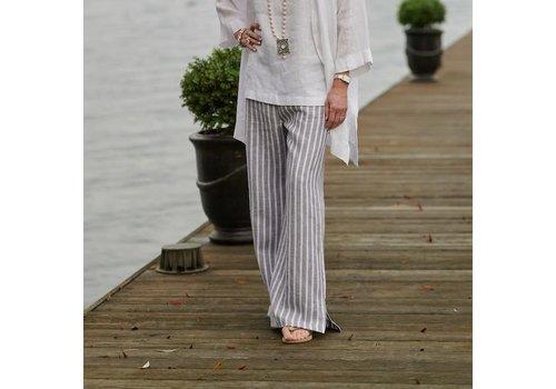 Tatum Pant - Grey Stripe M