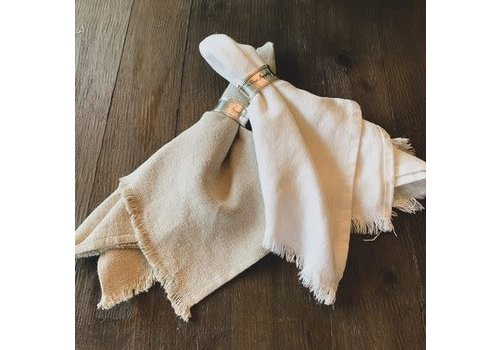 Napkin Tumbled Natural Fringe