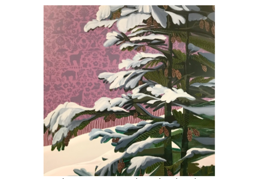 Purple Forest Pine - 48x48