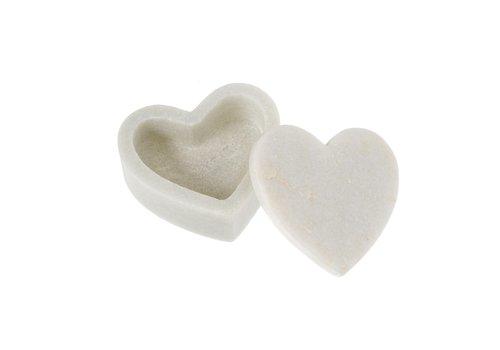 Indaba Marble Heart Box Small