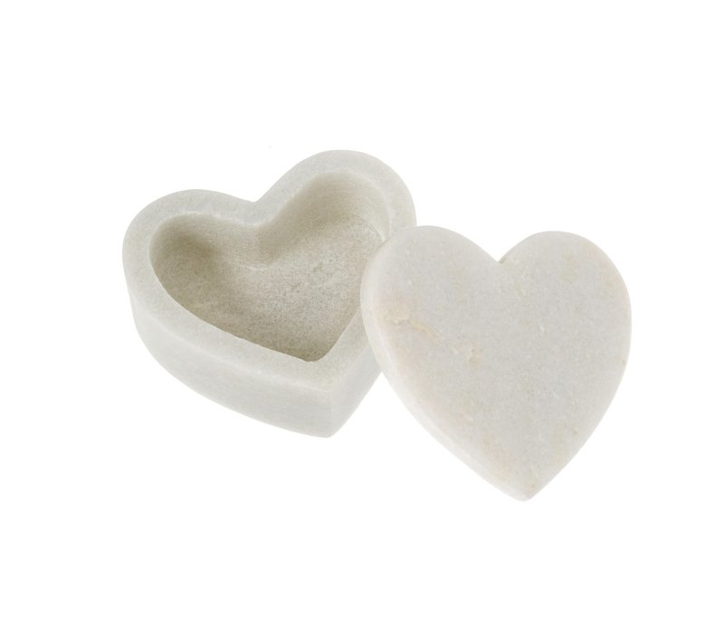 Marble Heart Box Small