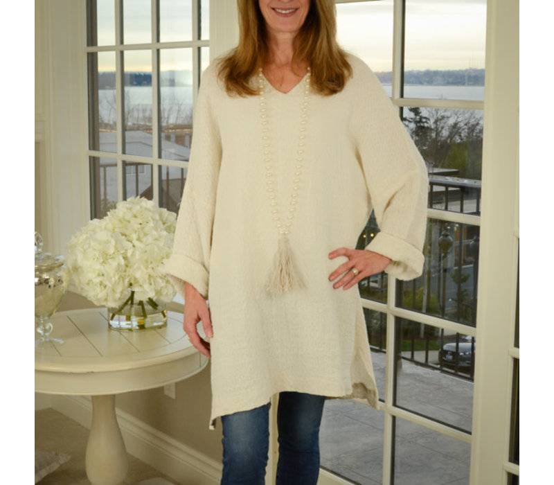 Riley Tunic, Cream S/M