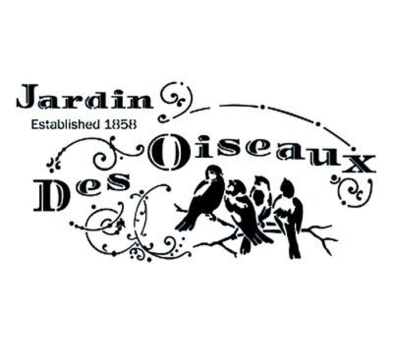 Stencil Jardin Des Oiseau