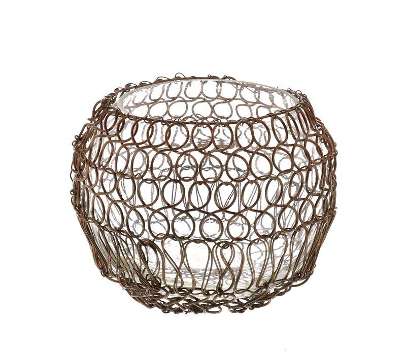 Twisted Wire Votive Copper