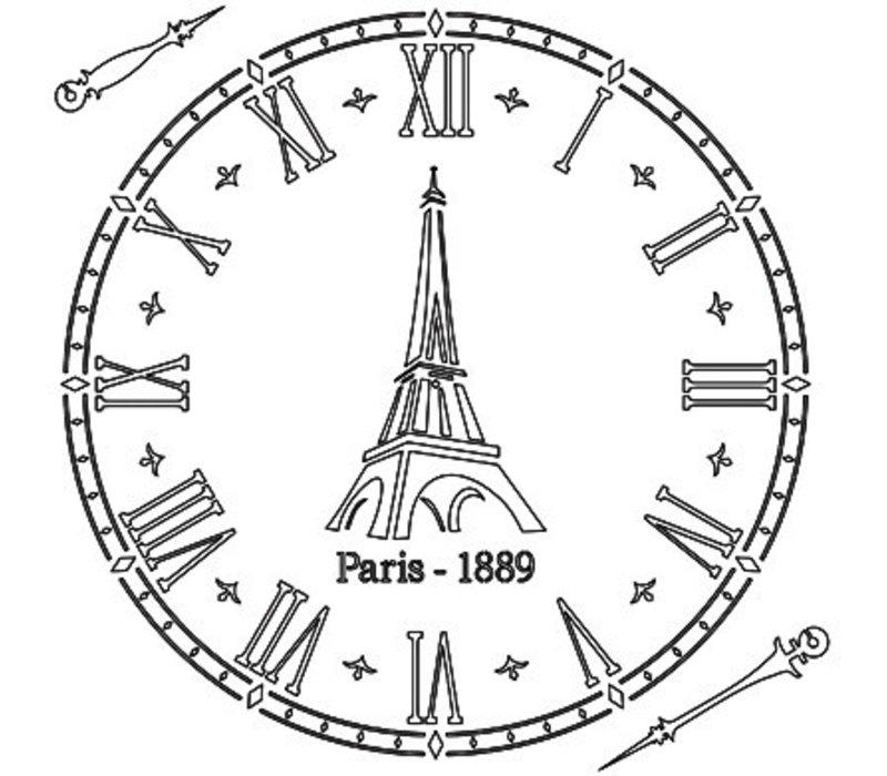 Stencil Paris Clock