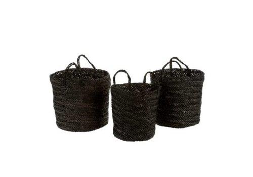 Bohemia Basket Black, Medium
