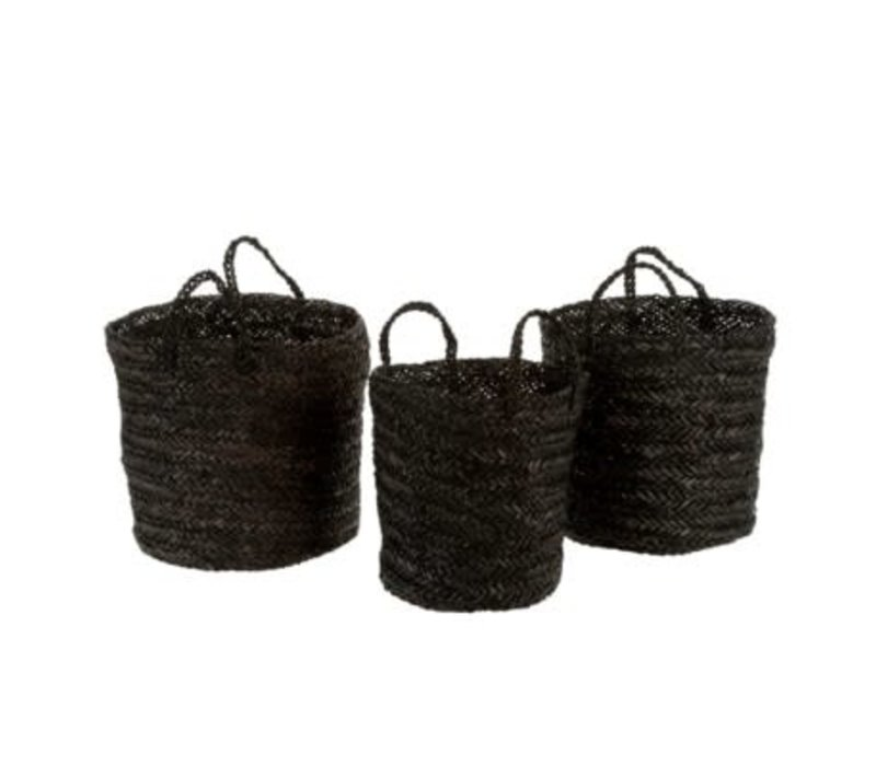 Bohemia Basket Black, Medium