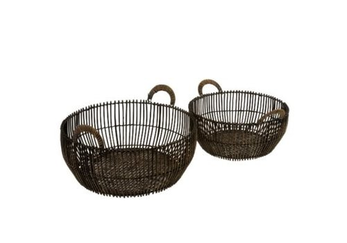 Rattan Reve Baskets Shallow Small