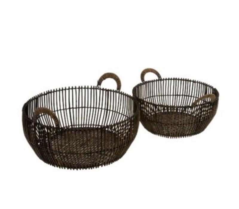 Rattan Reve Baskets Shallow Small