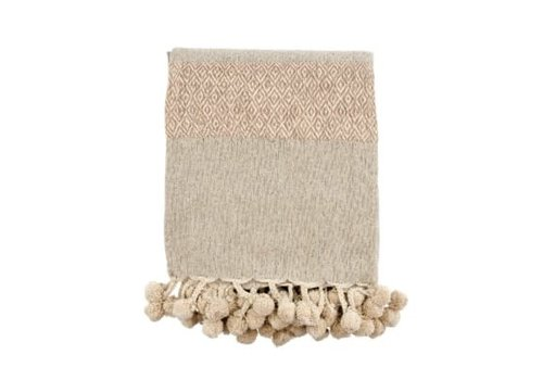 Metallic Throw, Rose Gold, Taupe