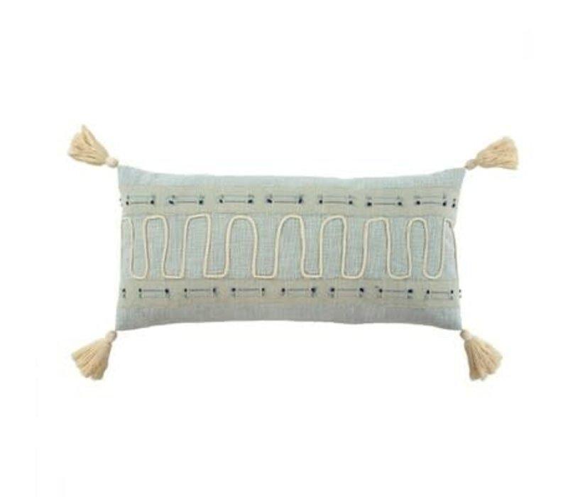 "Playa Pillow Blue 15x32"""