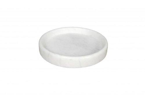 Round Marble Tray White