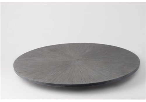Lava Stone Lazy Susan Grey 15.75''