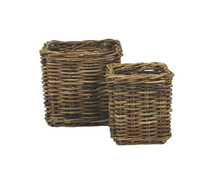 Rattan Square Basket Small