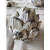 Deco Artichoke White Wash Small