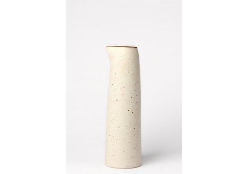 Ceramic Pitcher Stone Cream Wide