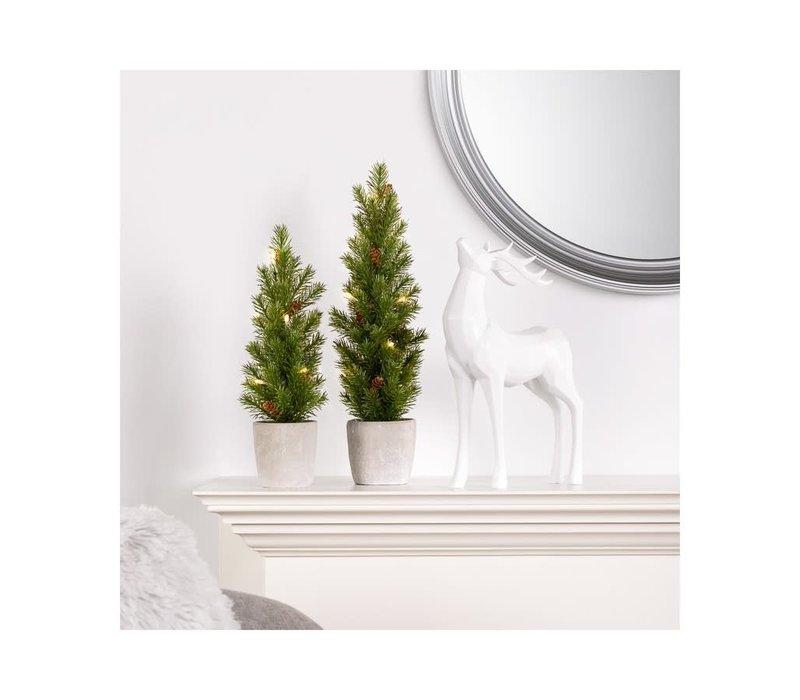"""Nordic Led Mini Potted Pine Tree 17"""""""
