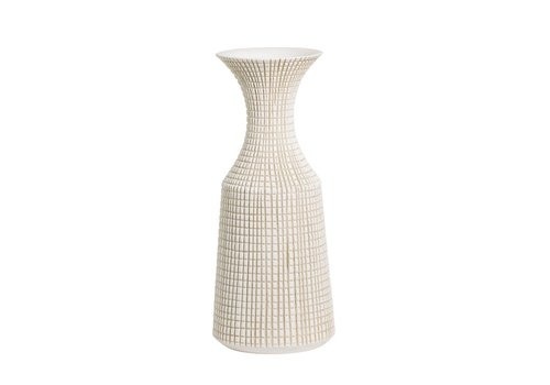 "Capstan Resin Neck Vase White 23""H"