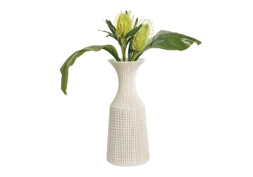 "Capstan Resin Neck Vase White 18.5""H"