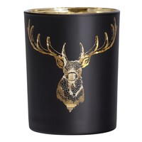 Stag Head Gold Mirror Vase/Candle Holder 4x5""