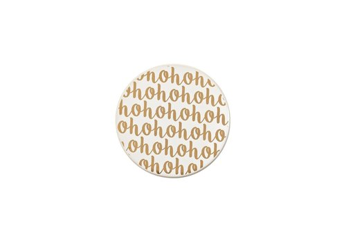 HoHoHo Ceramic Coasters Gold Set of 4