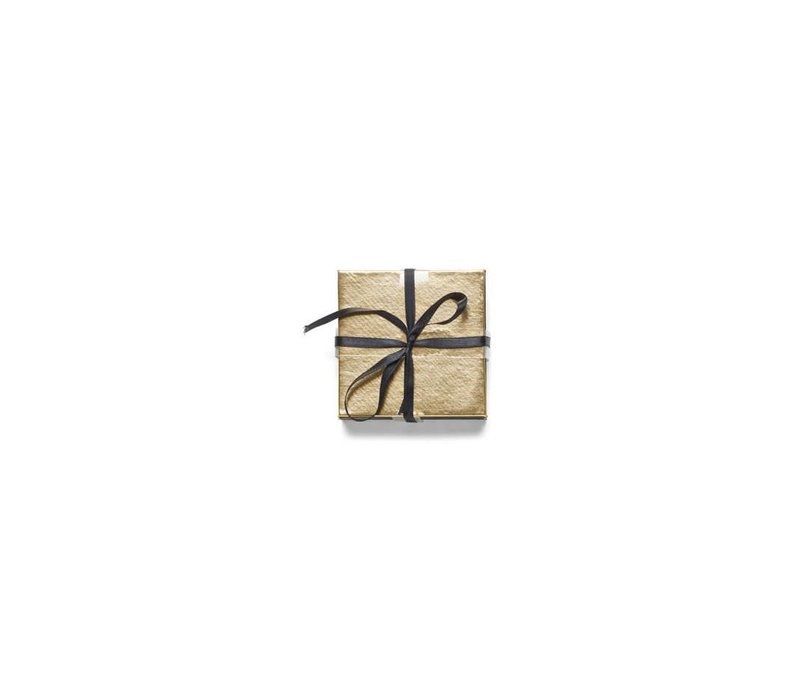 Metallic Solid Coasters Gold Set of 6