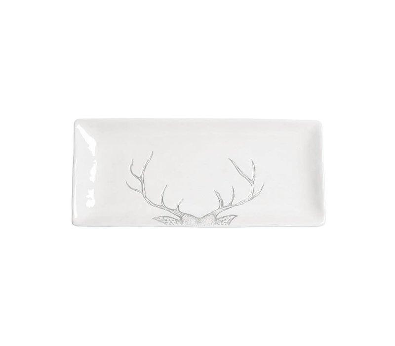 Reindeer Serving Tray Grey