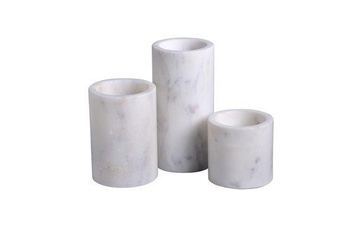 Marble Cylinder Pillar Votive Large