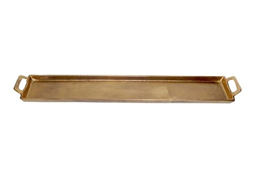Aluminum Tray With Handles Antique Brass 5x30""