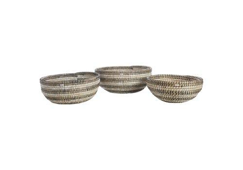 Nihom Recycled Plastic Straw Bowl/Basket Medium