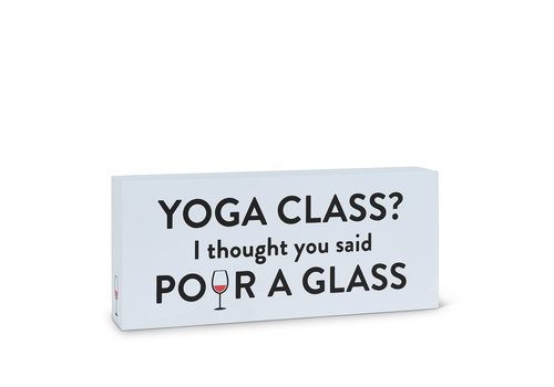 "Yoga Class Block Grey 5x12""L"
