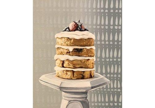 Local Calgary Artist Mckenna Prather  Berry Cake 12x36