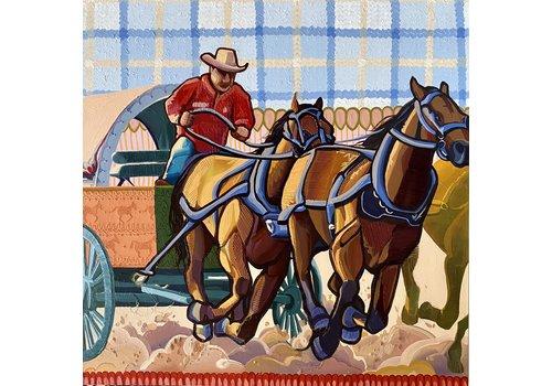 "Local Calgary Artist  Mckenna Prather Range Roundup Acrylic 48"" x 48"""