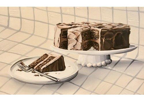 Local Calgary Artist  Mckenna Prather Classic Chocolate 35.5x12