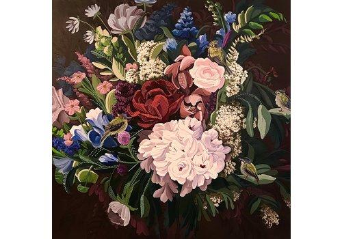 "Local Calgary Artist Mckenna Prather Tyrannidae Garden 36""x36"""