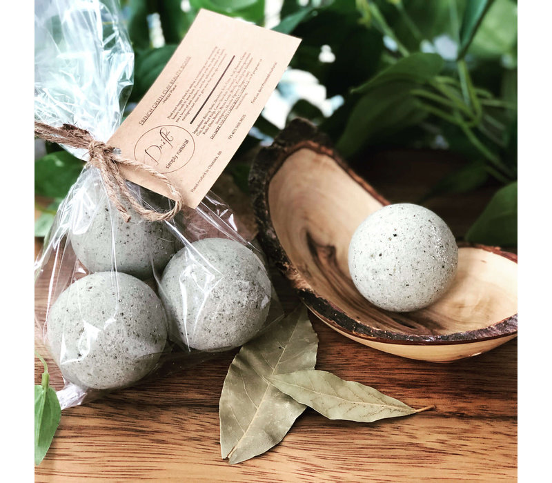 Hand Made in Alberta French Green Clay Beauty Bomb