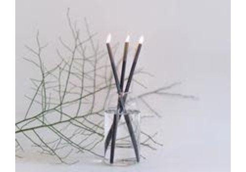 Everlasting Candle Black Set - Ayden Vase