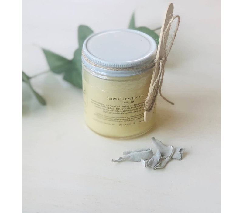 Hand Made in Alberta  Organic Bath/Shower Melt Jar