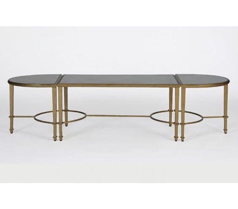 Milo Mercury Glass Coffee Table