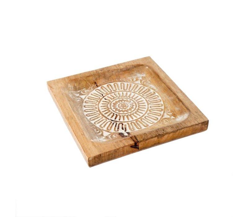 Mandala Wooden Tray Small