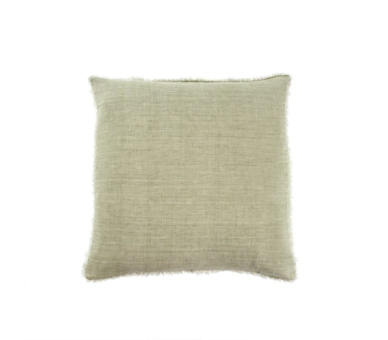 "Lina Linen Pillow Olive 24"" x 24"""