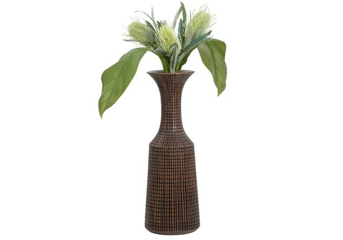 "Capstan Tapered Resin Flared Neck Vase Brown 23""H"