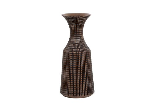 "Capstan Tapered Resin Flared Neck Vase Brown 18.5""H"