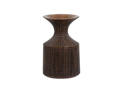 "Capstan Tapered Resin Flared Neck Vase Brown 13.5""H"